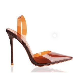 Brown Clear Heels